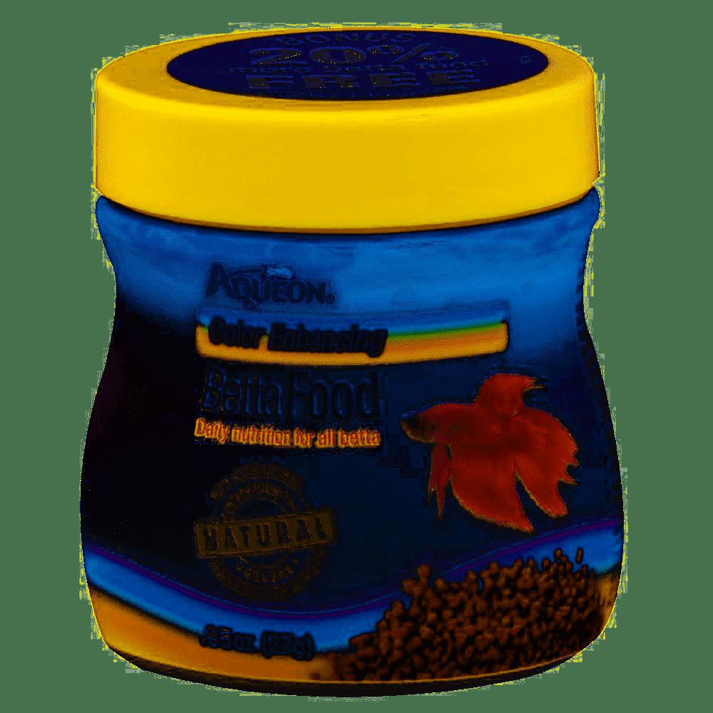 Aqueon Color Enhancing Betta Fish Food, .95-oz (Size: 0.95-oz jar) Image