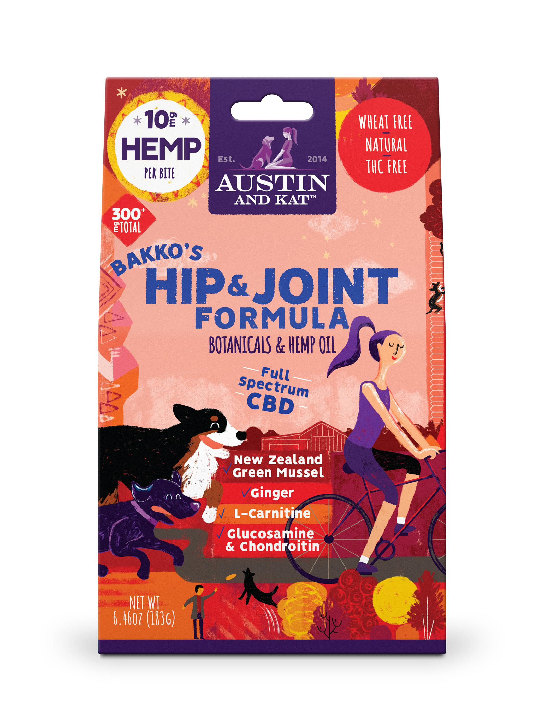 Austin and Kat Backo's Hip & Joint Bites, 10-mg, 30-Count