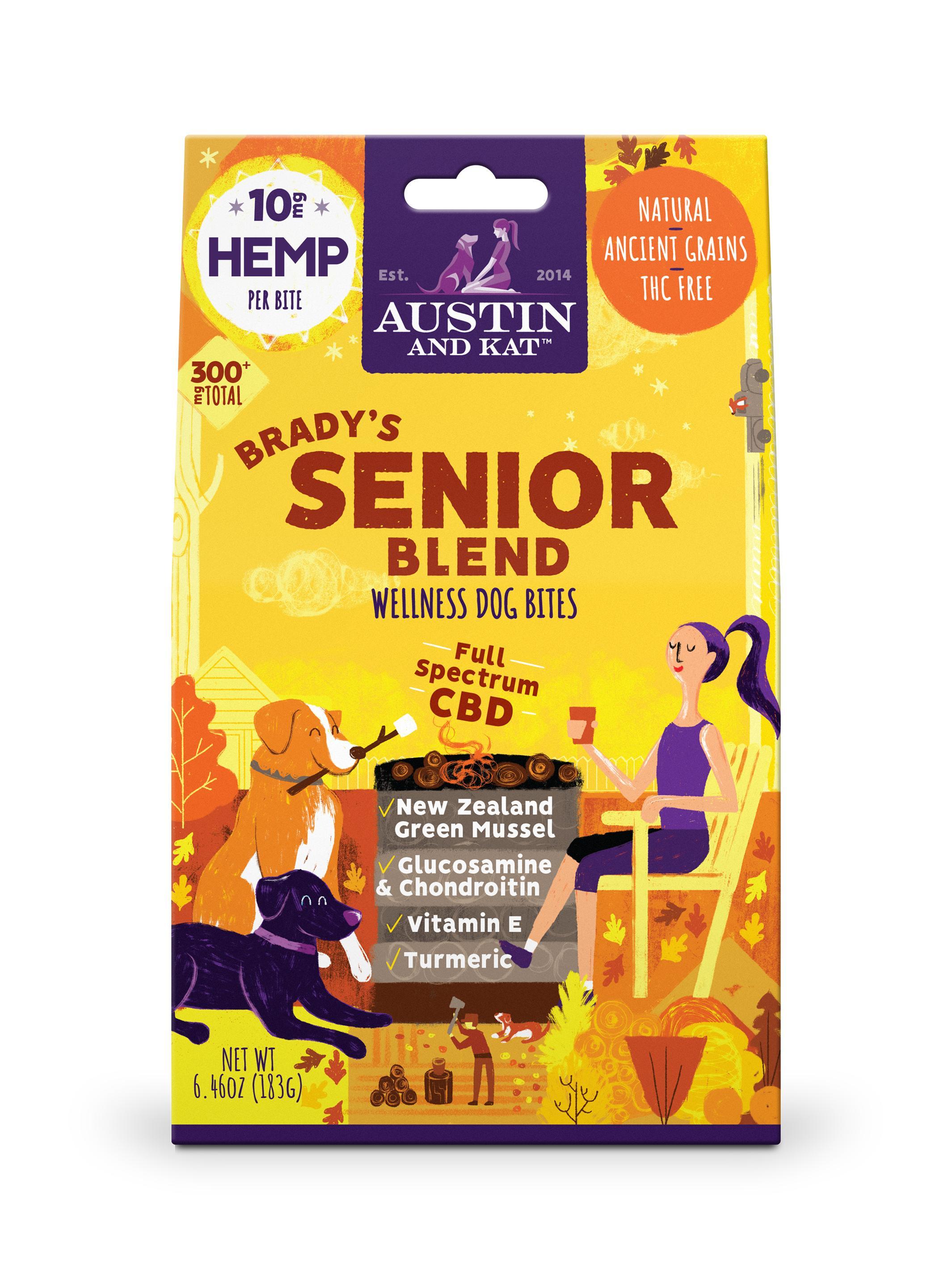 Austin and Kat Brady's Senior Blend Bites, 10-mg, 30-Count