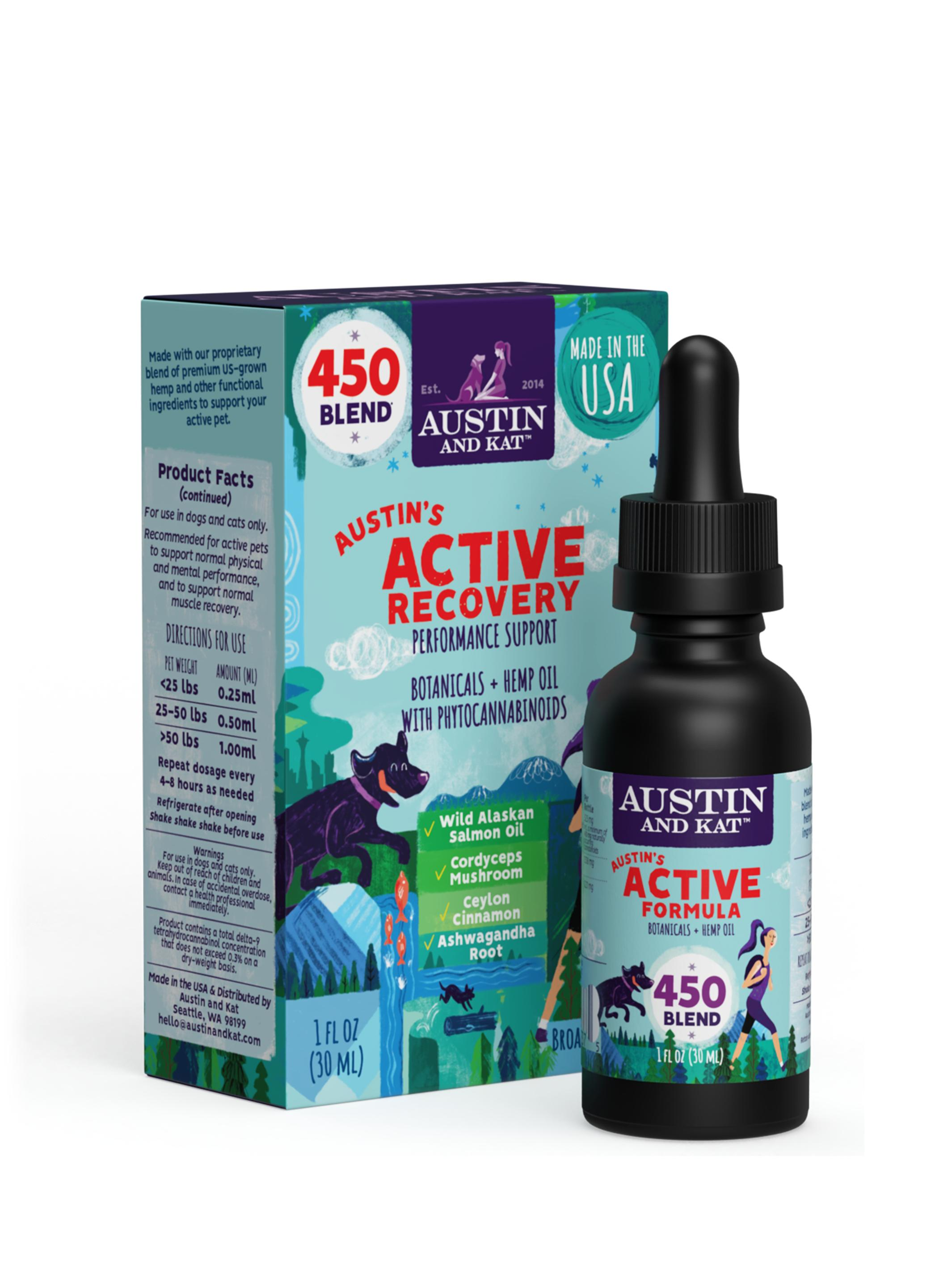 Austin and Kat Austin's Active Recovery Oil, 450-mg, 1-oz