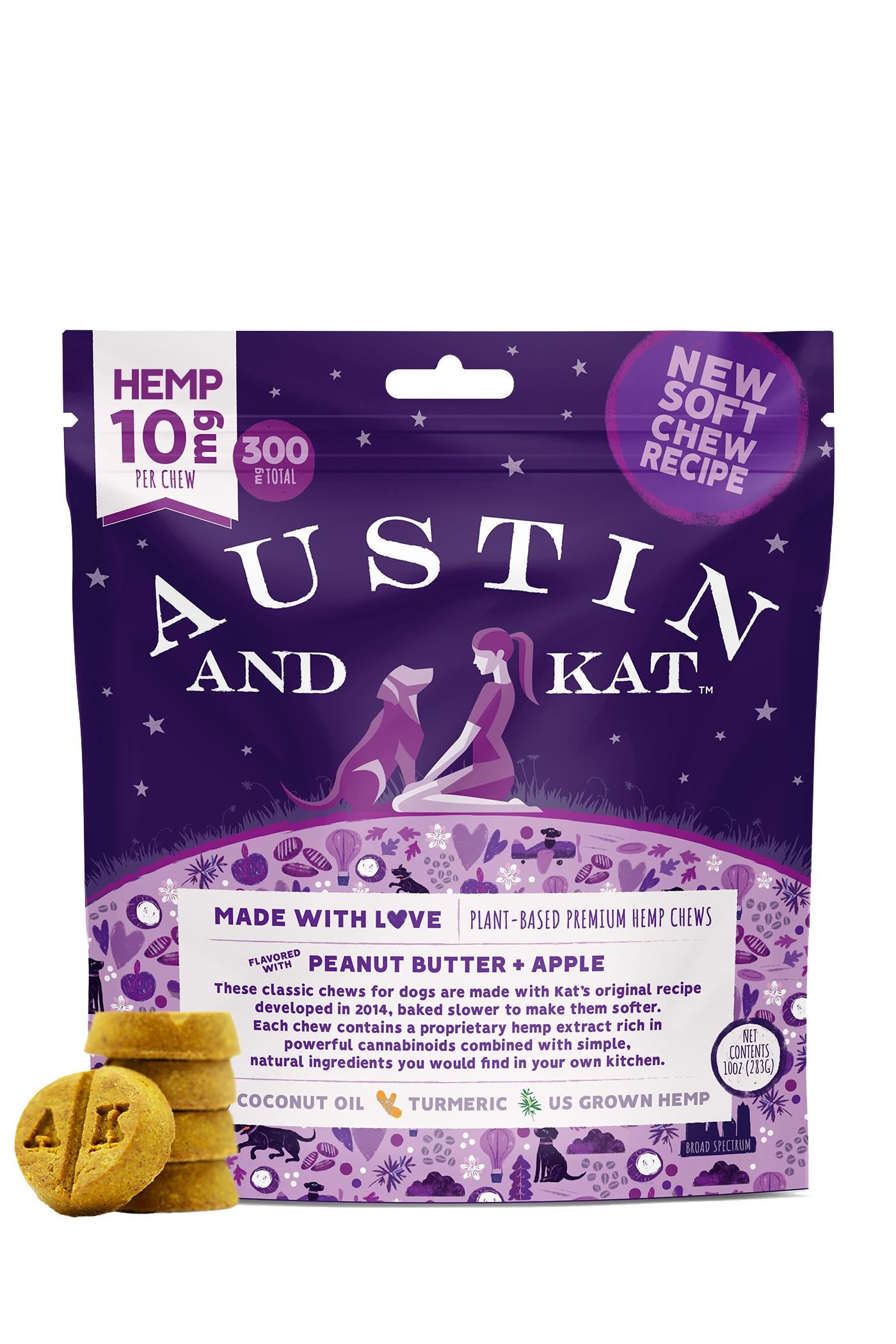 Austin and Kat Premium PB & Apple Chews, 10-mg, 30-count
