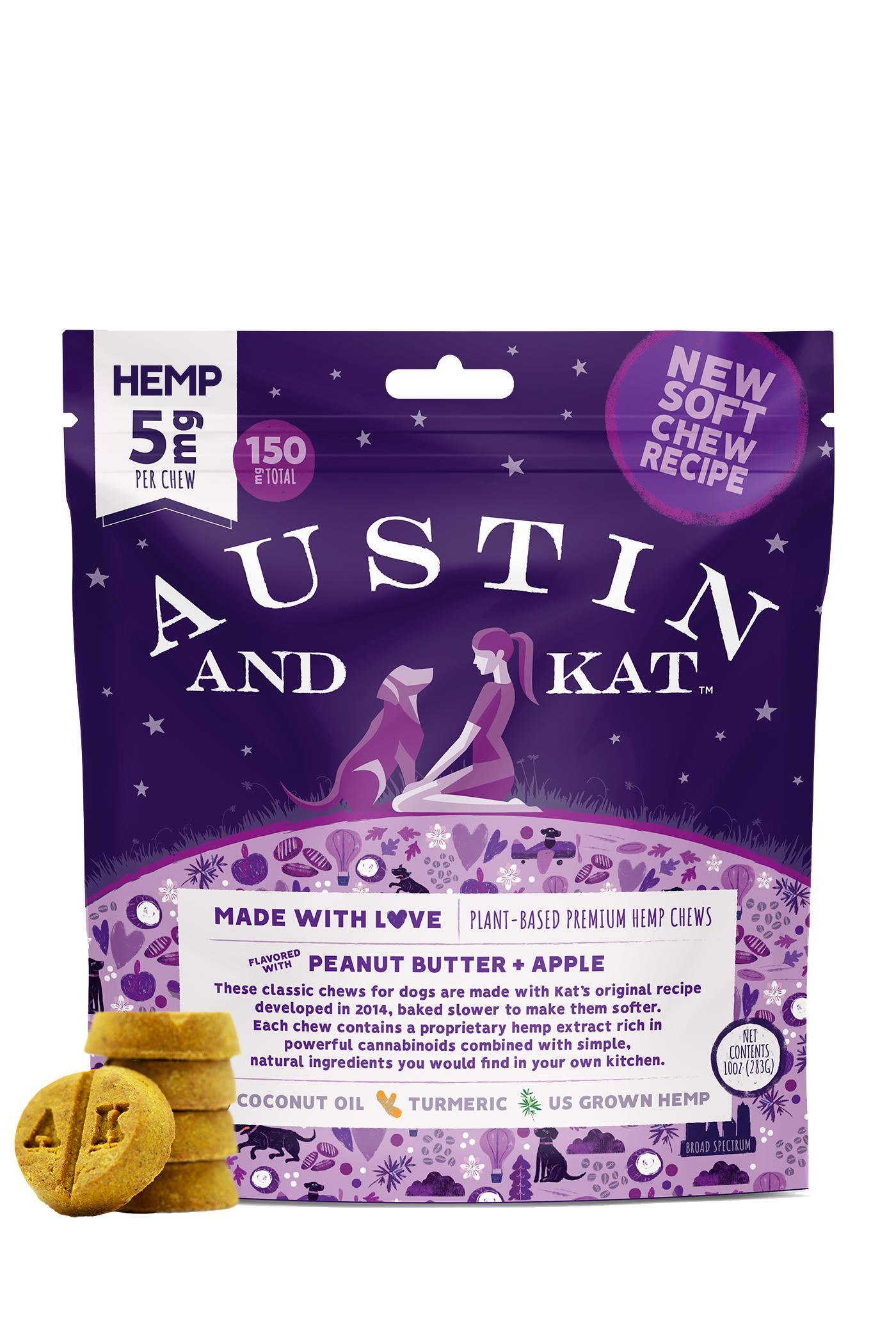 Austin and Kat Premium PB & Apple Chews, 5-mg, 30-count