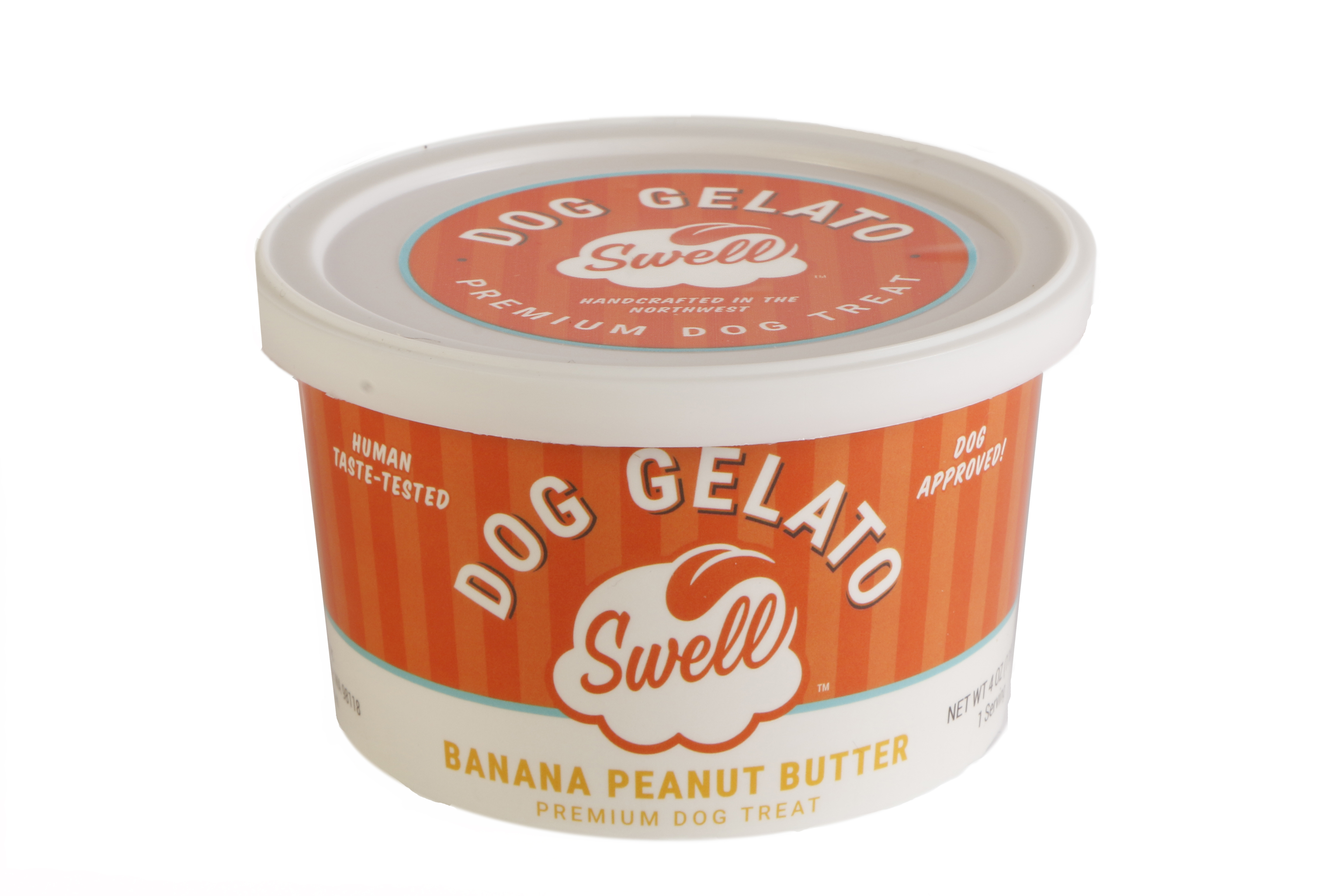 Swell Gelato Banana Peanut Butter Dog Treats, 4-oz
