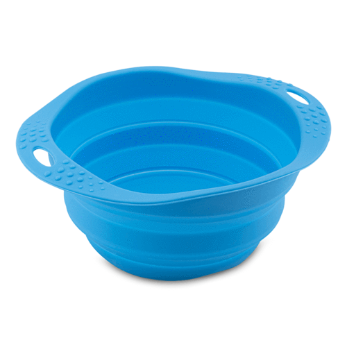 Beco Travel Pet Bowl, Blue, Medium (Color: Blue) Image