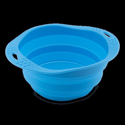 Beco Travel Pet Bowl, Blue, Medium