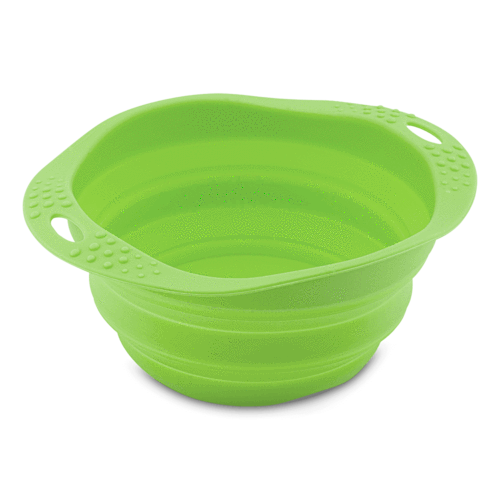 Beco Travel Pet Bowl, Green, Large (Color: Green) Image