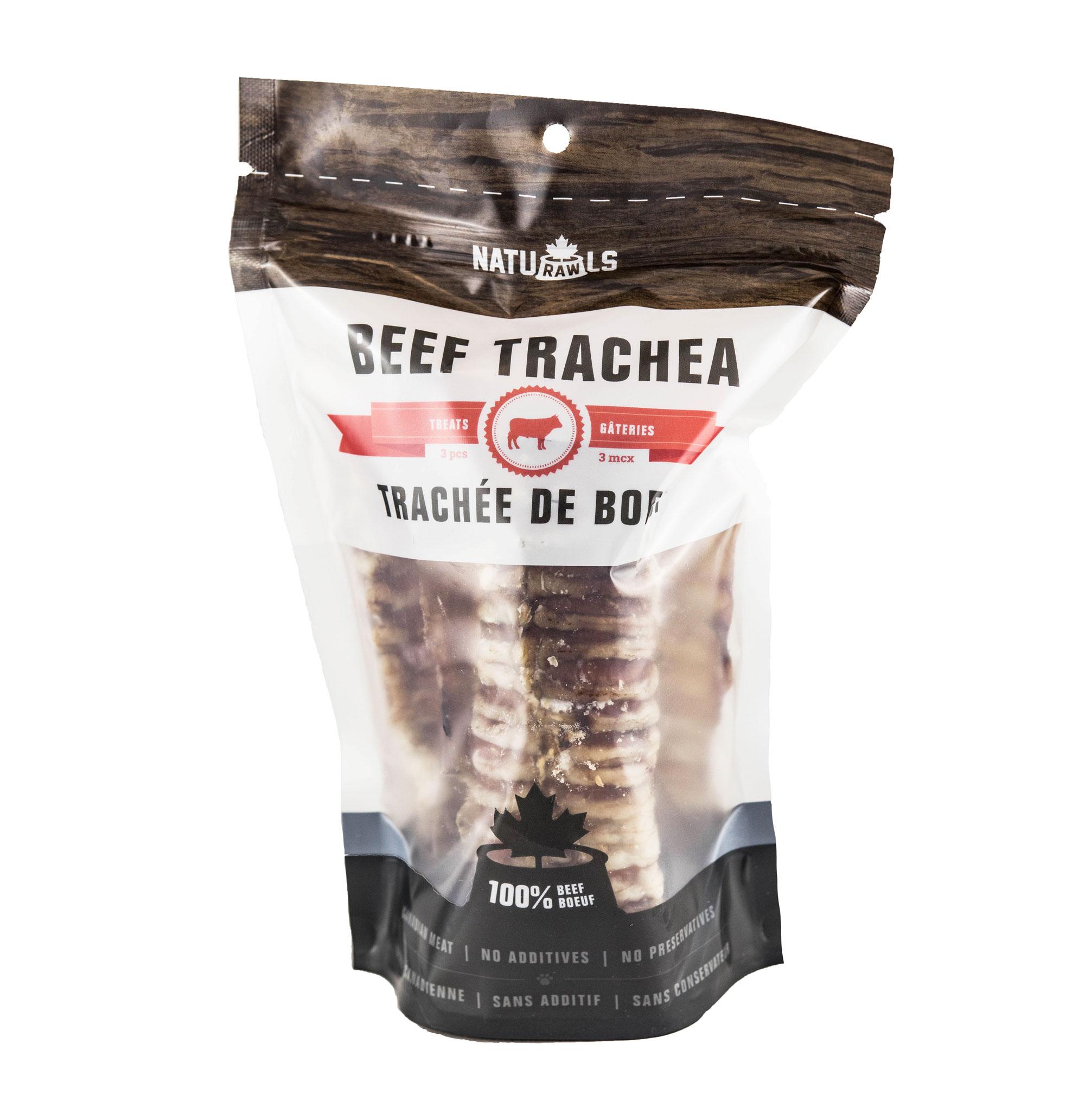 Naturawls Beef Trachea Dehydrated Dog Treats, 3-piece