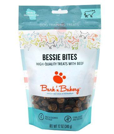 Bark 'n Bakery Bessie Bites with Beef Training Dog Treats, 12-oz