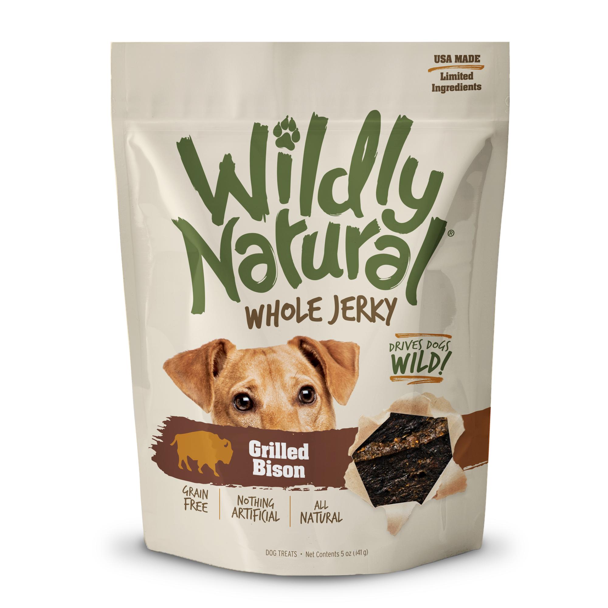 Wildly Natural Jerky Dog Treats, Bison