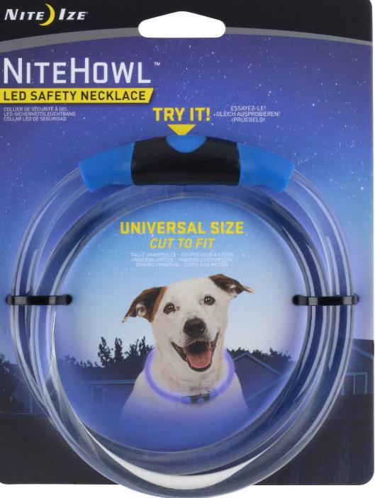 Nite Ize NiteHowl LED Safety Dog Necklace, Blue