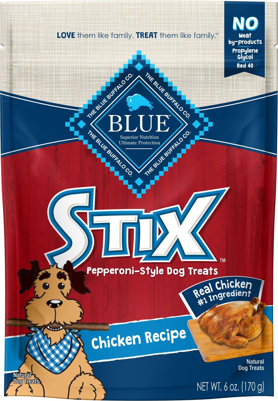 Blue Buffalo Blue Stix Chicken Recipe Pepperoni-Style Dog Treats, 6-oz bag