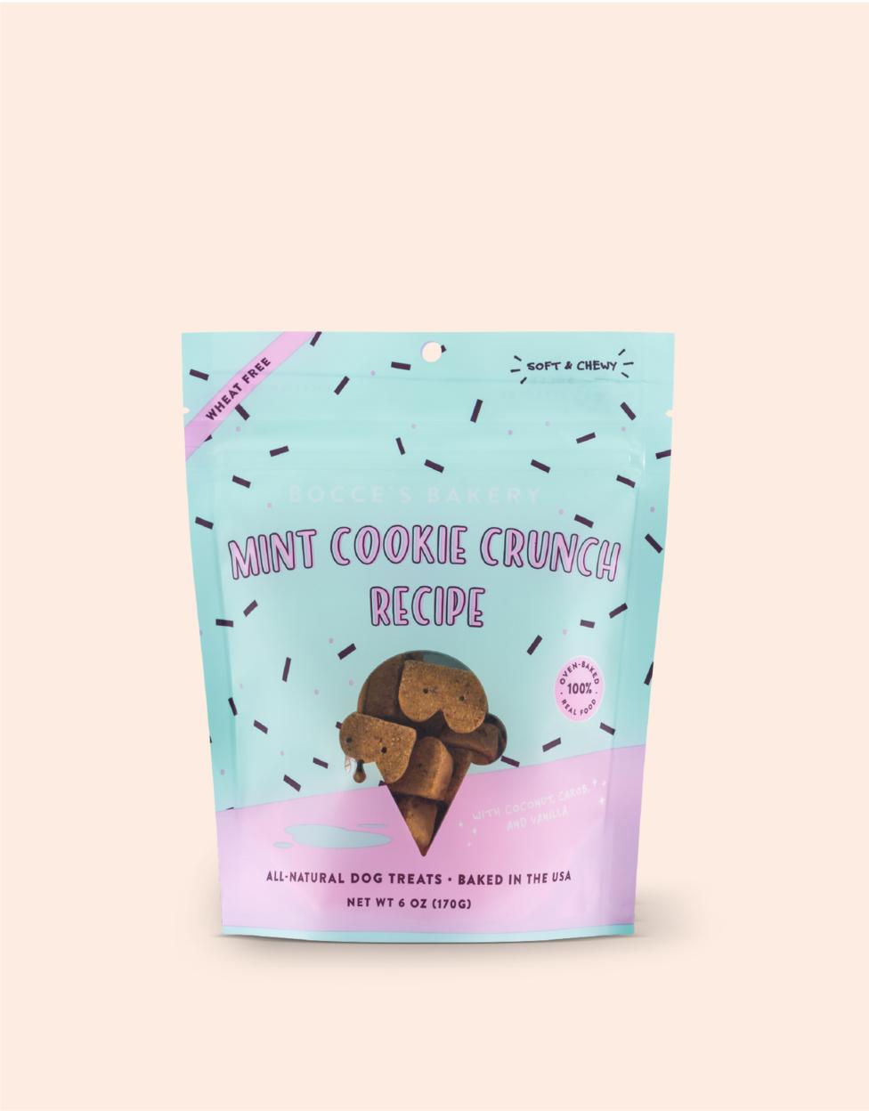 Bocce's Bakery Scoop Shop Mint Cookie Crunch Dog Treats, 6-oz