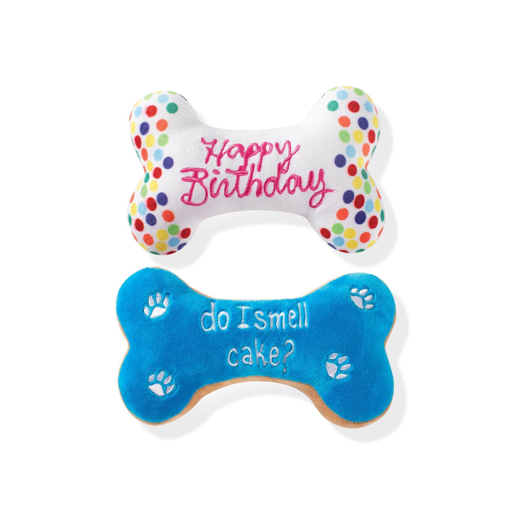 Pet Shop by Fringe Studio Bone Cookies Plush Squeaker Dog Toy, Set of 2 Image