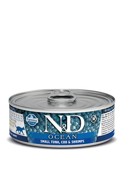 Farmina N&D Ocean Bonito, Cod & Shrimp Adult Cat Wet Food Image