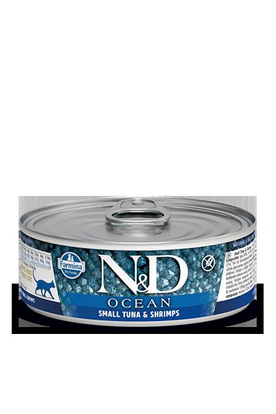 Farmina N&D Ocean Bonito & Shrimp Adult Cat Wet Food, 2.8-oz
