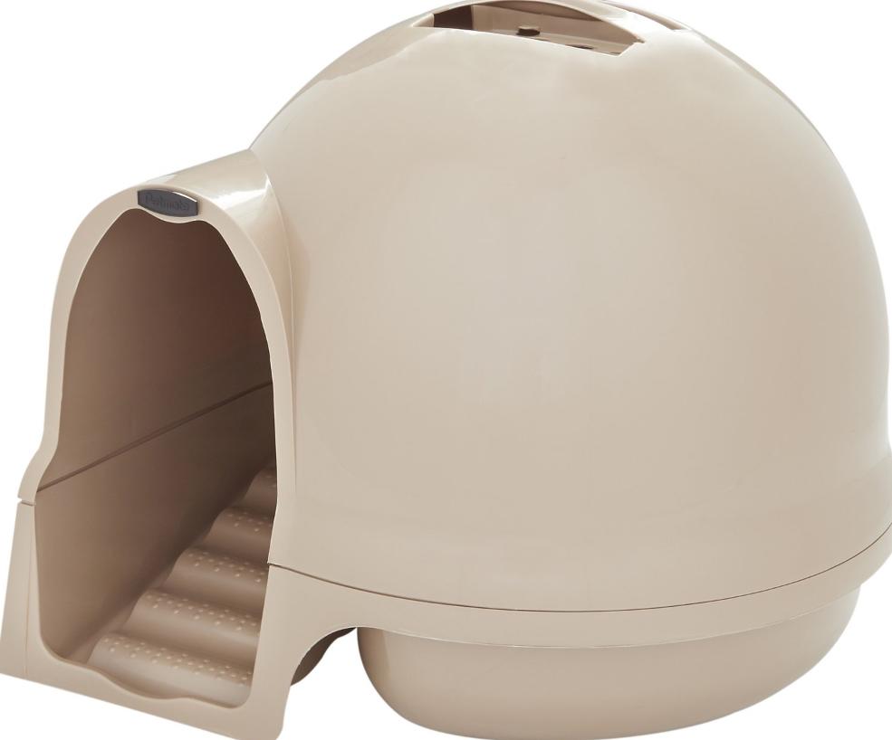 Booda Dome Cleanstep Litter Box, Titanium (Color: Titanium) Image