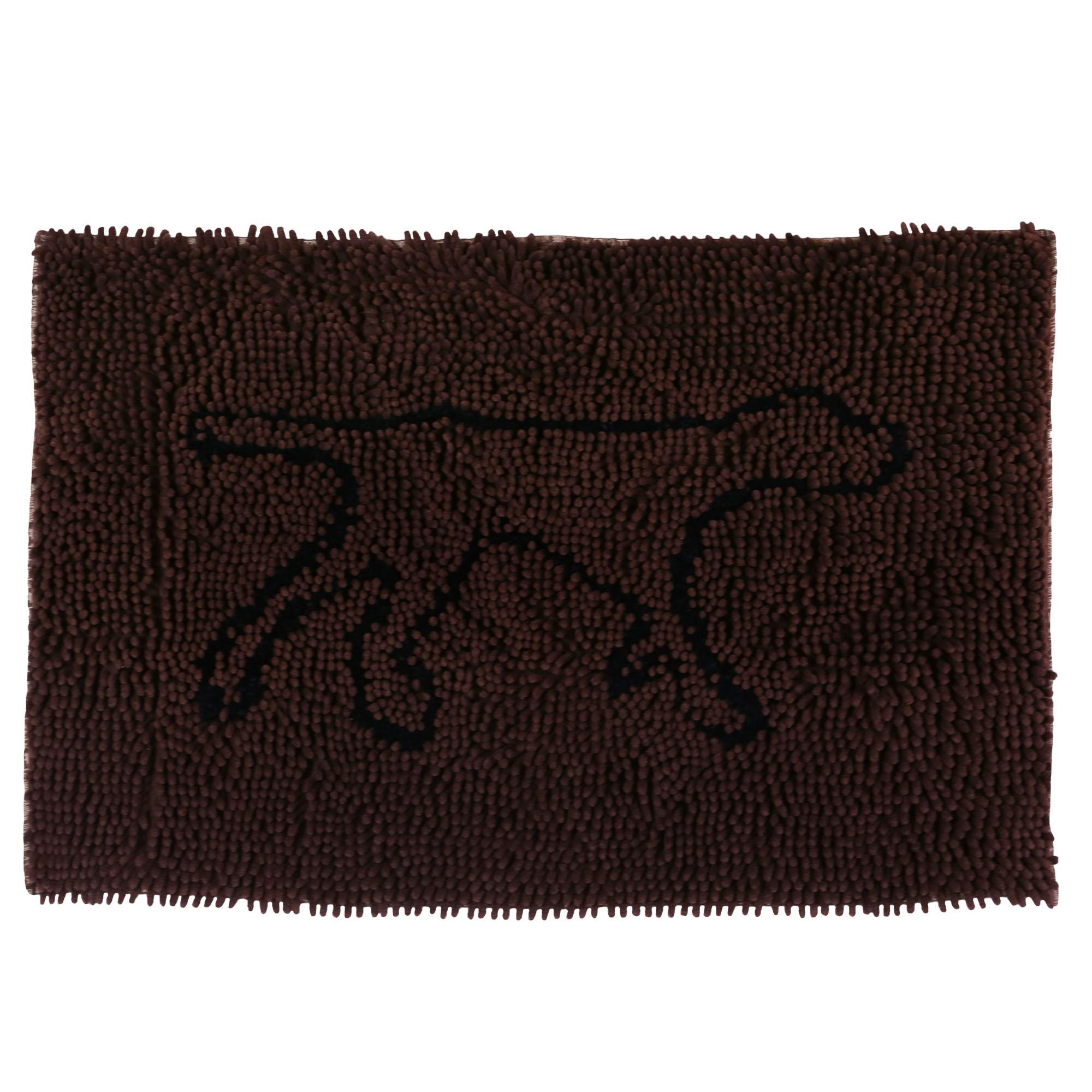 Tall Tails Wet Paw Dog Mat, Brown, Medium, 31-in x 20-in