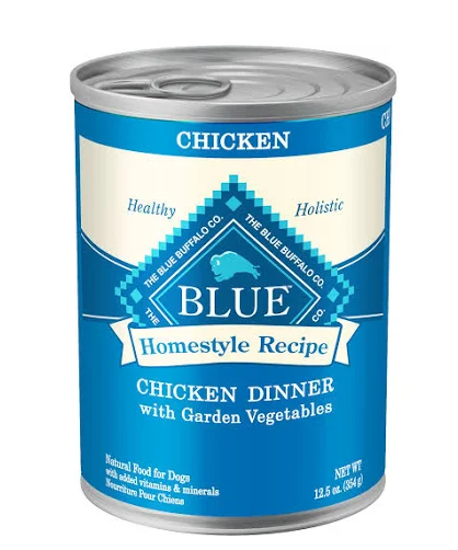 Blue Buffalo Homestyle Recipe Chicken Dinner with Garden Vegetables Grain-Free Canned Dog Food, 12.5-oz