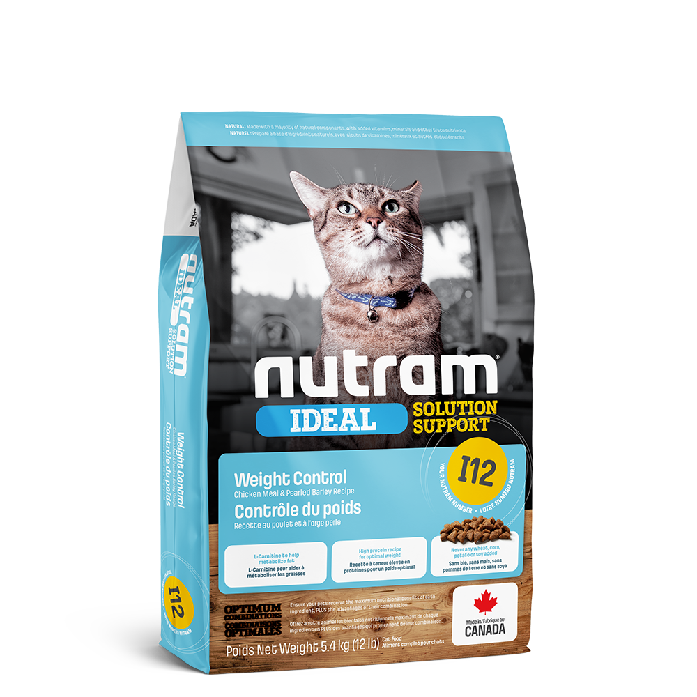 Nutram Ideal I12 Solution Support Weight Control Cat Food, 1.13-kg