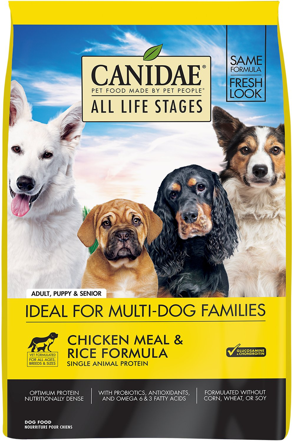 Canidae All Life Stages Chicken Meal & Rice Formula Dry Dog Food, 15-lb