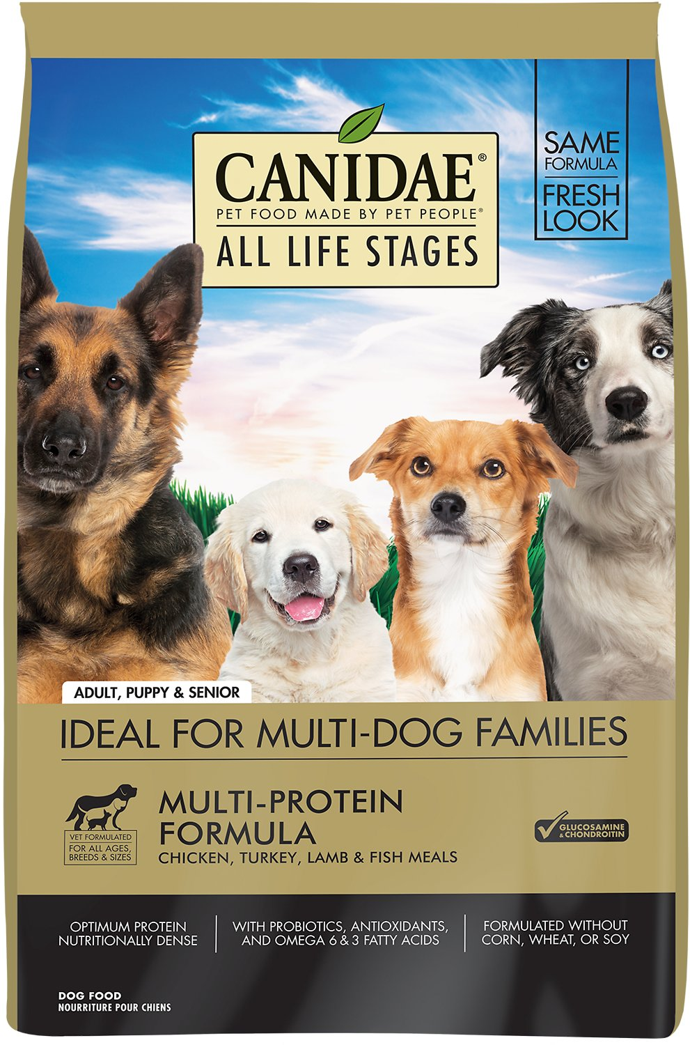 Canidae All Life Stages Multi-Protein Formula Dry Dog Food, 15-lb