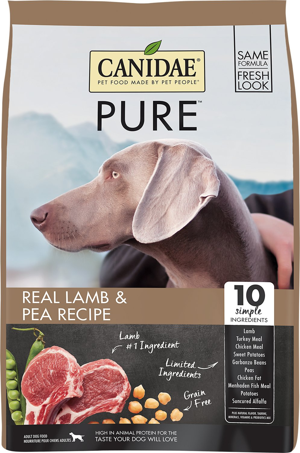 Canidae Grain-Free PURE Real Lamb & Pea Recipe Dry Dog Food Image
