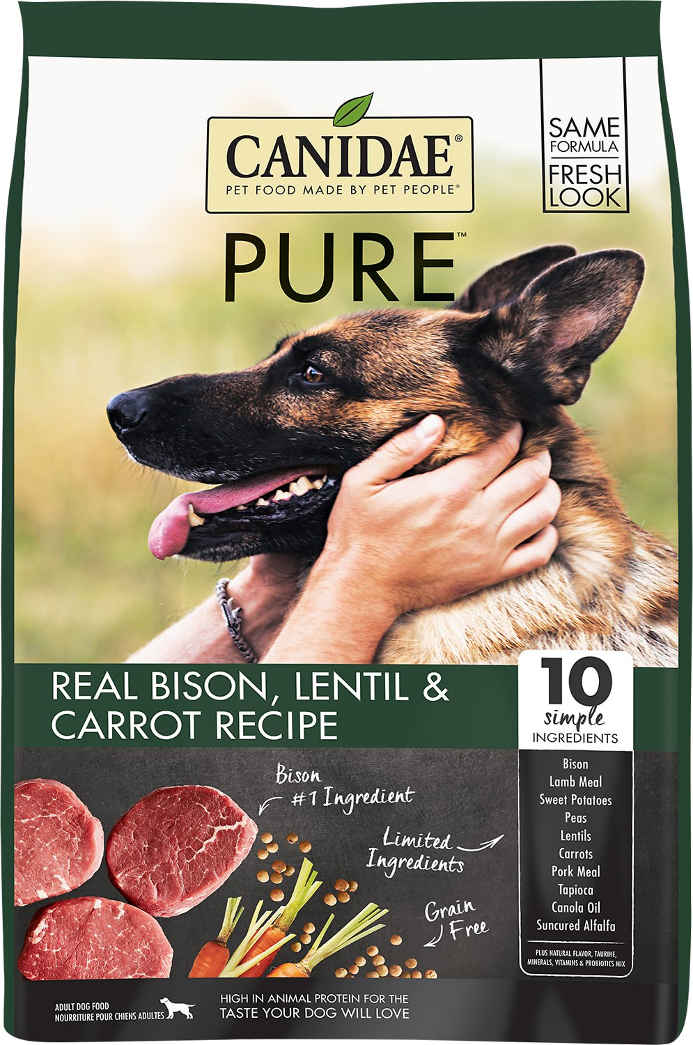 Canidae Grain-Free PURE Real Bison, Lentil & Carrot Recipe Dry Dog Food Image