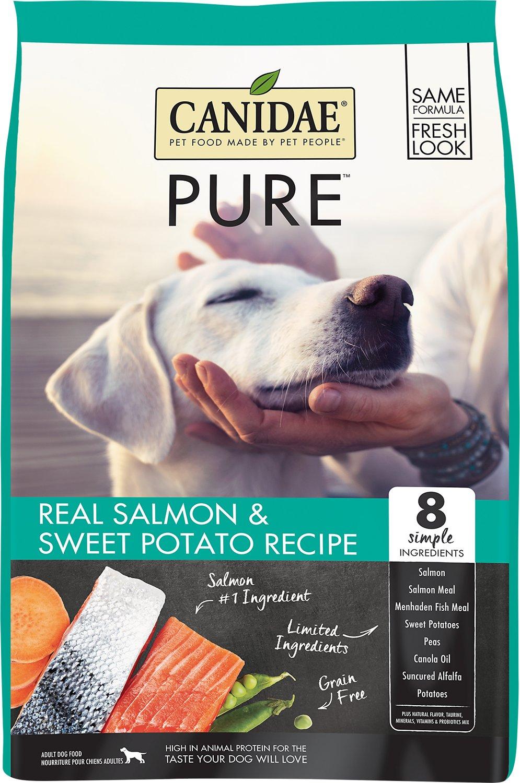 Canidae Grain-Free PURE Real Salmon & Sweet Potato Recipe Dry Dog Food, 24-lb