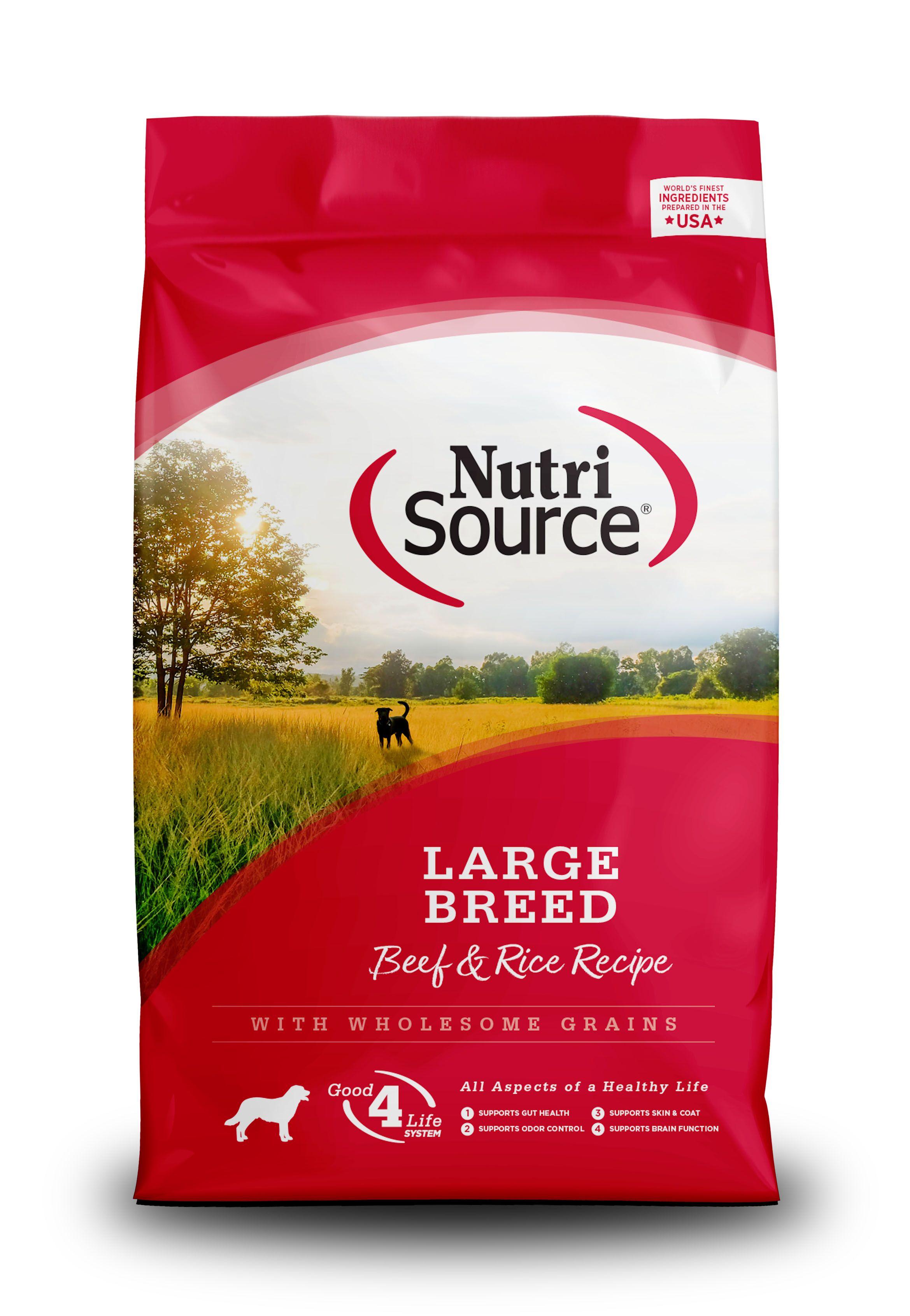 Nutrisource Beef & Rice Formula Large Breed Dry Dog Food, 30-lb