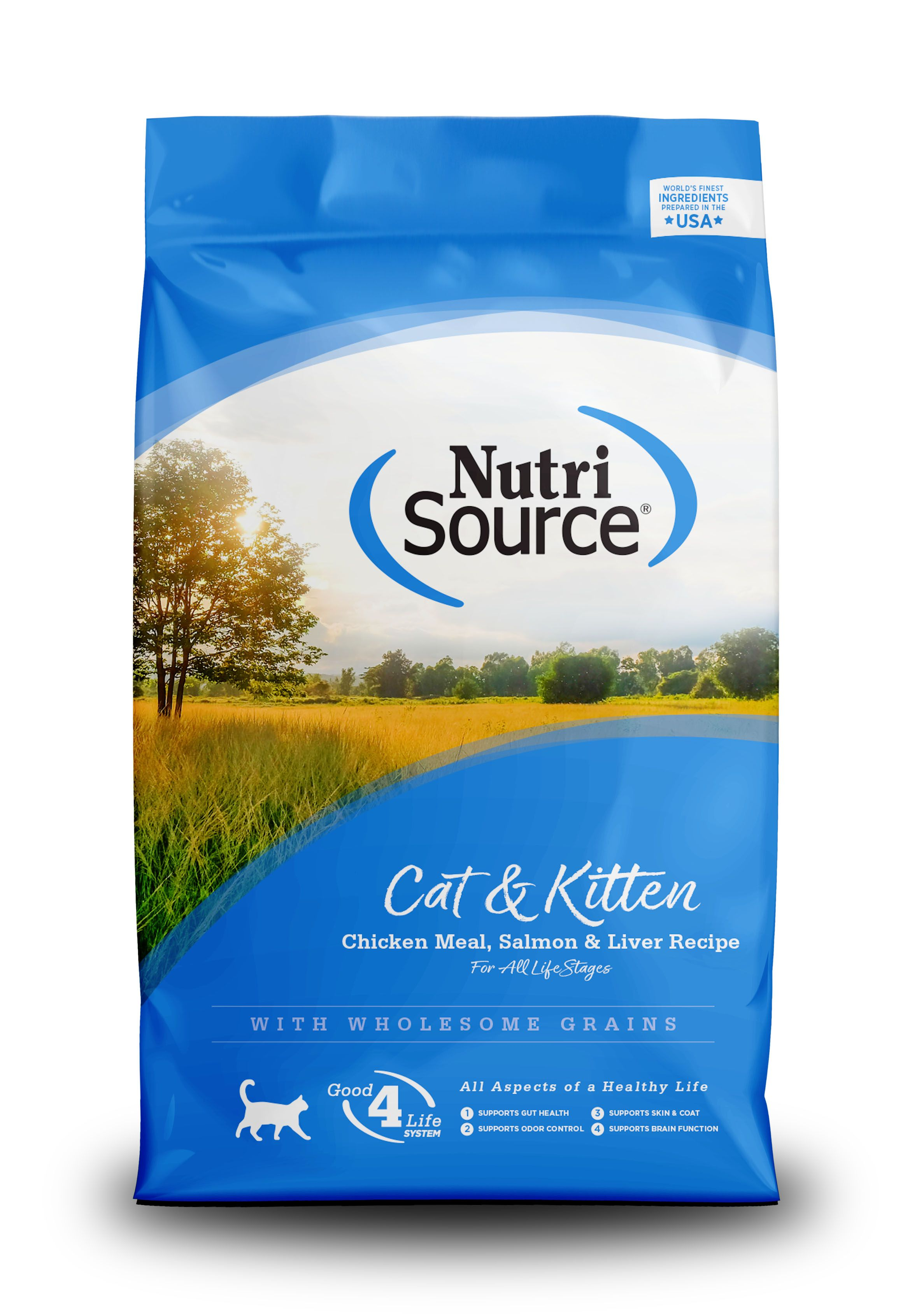 NutriSource Cat and Kitten Chicken Salmon and Liver Dry Cat Food Image