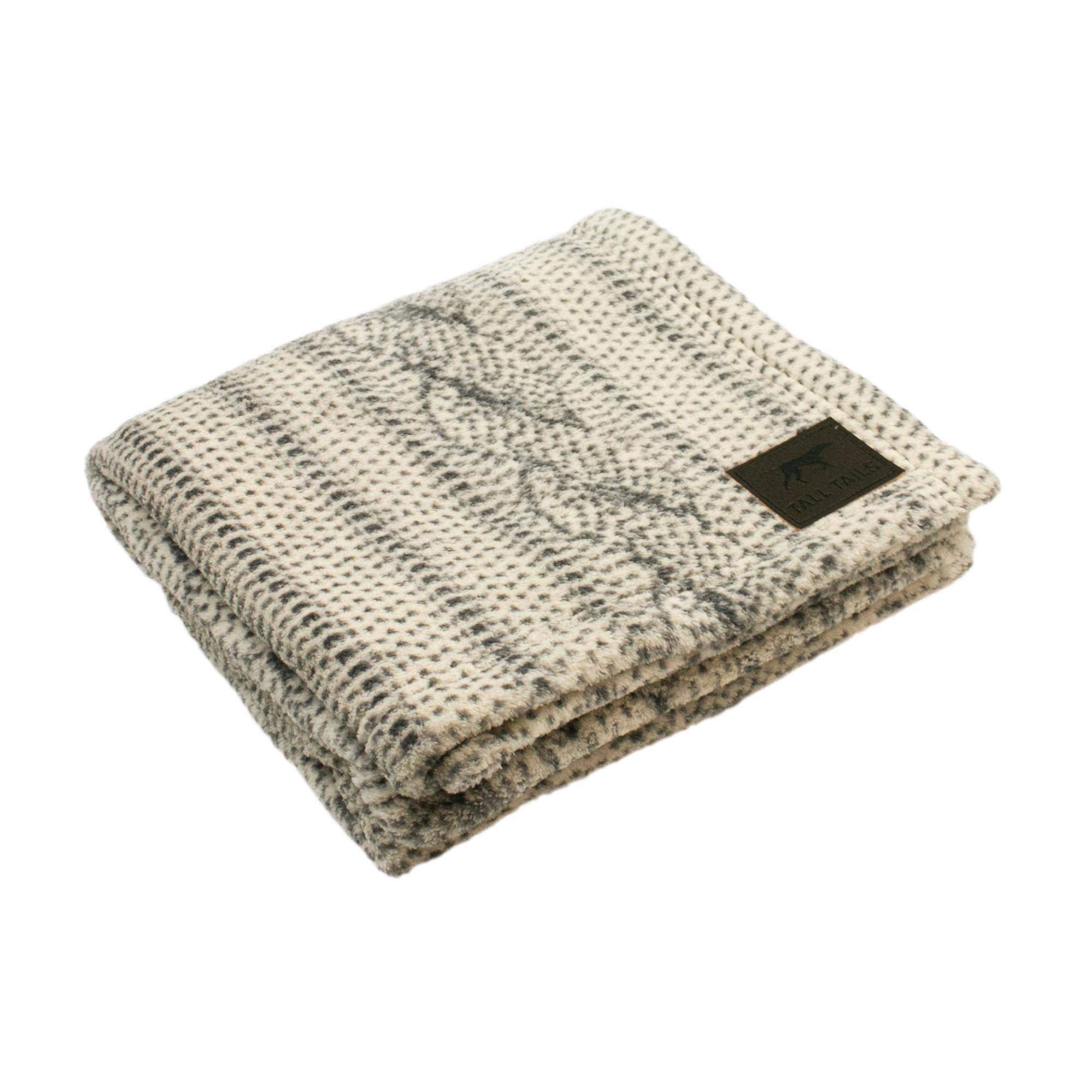 Tall Tails Cable Knit Print Dog Blanket, 30x40