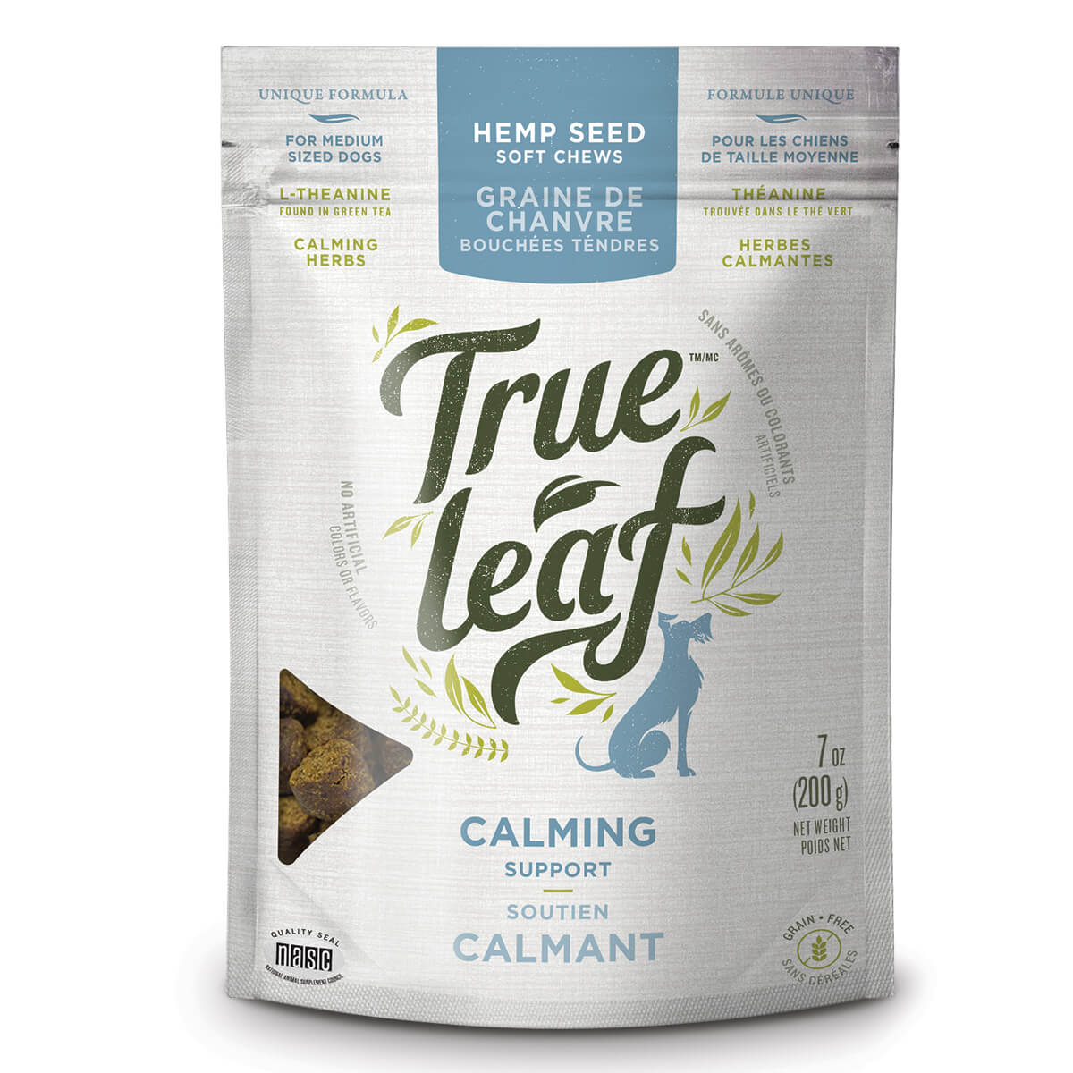 True Leaf Calming Support Chews for Medium Dogs, 7-oz