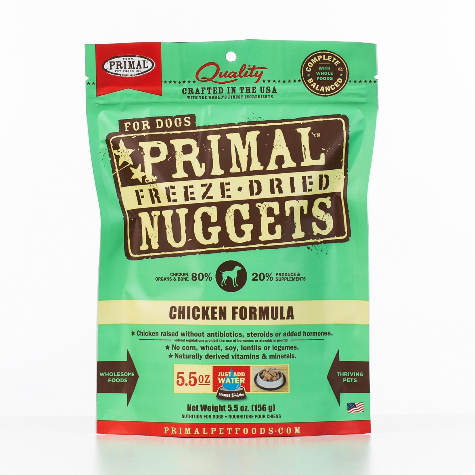 Primal Raw Freeze-Dried Nuggets Chicken Formula Dog Food, 5.5-oz bag