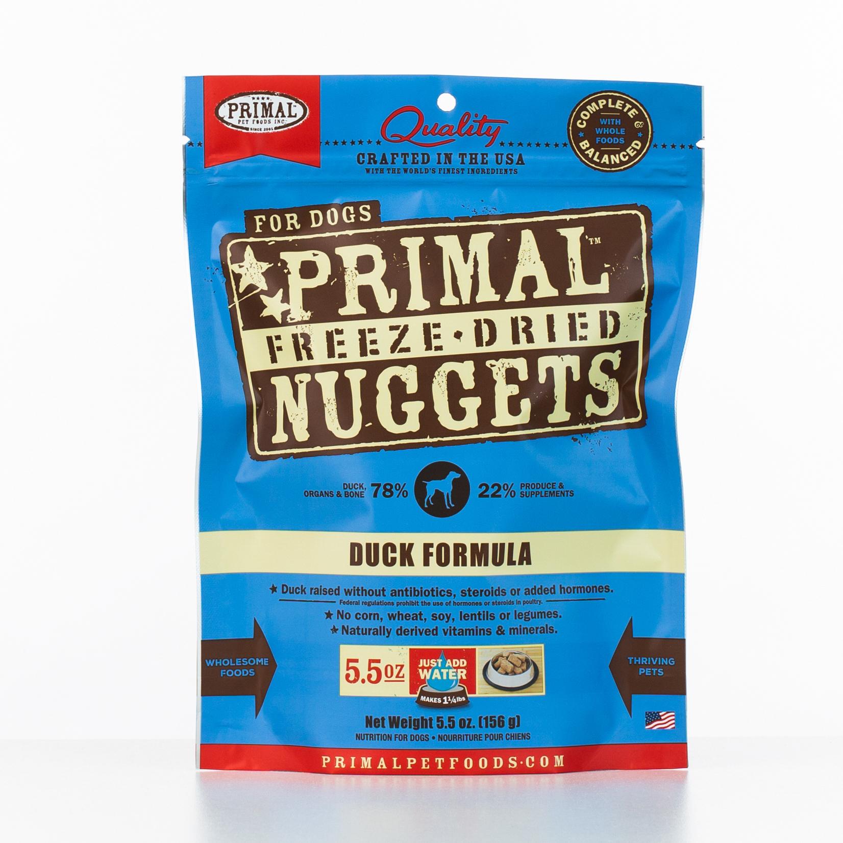 Primal Raw Freeze-Dried Nuggets Duck Formula Dog Food, 5.5-oz bag
