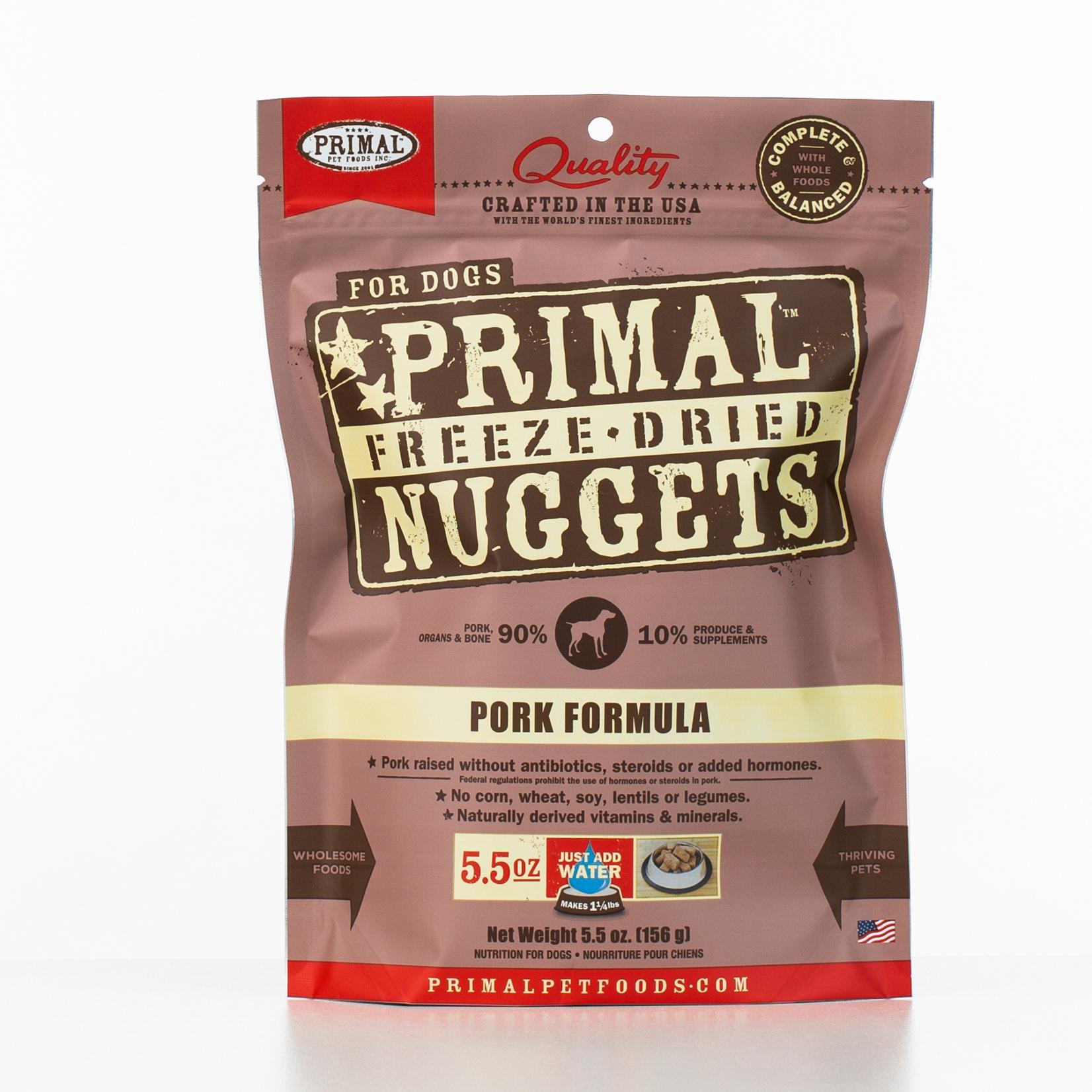 Primal Raw Freeze-Dried Nuggets Pork Formula Dog Food Image