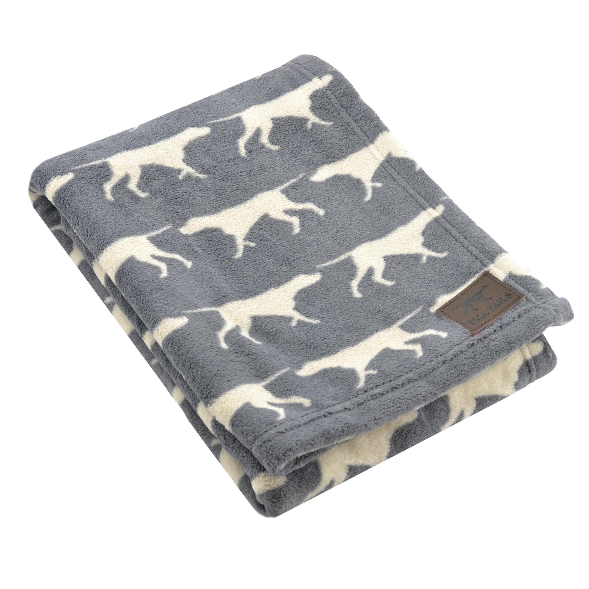 Tall Tails Grey Icon Fleece Dog Blanket, 20 x 30