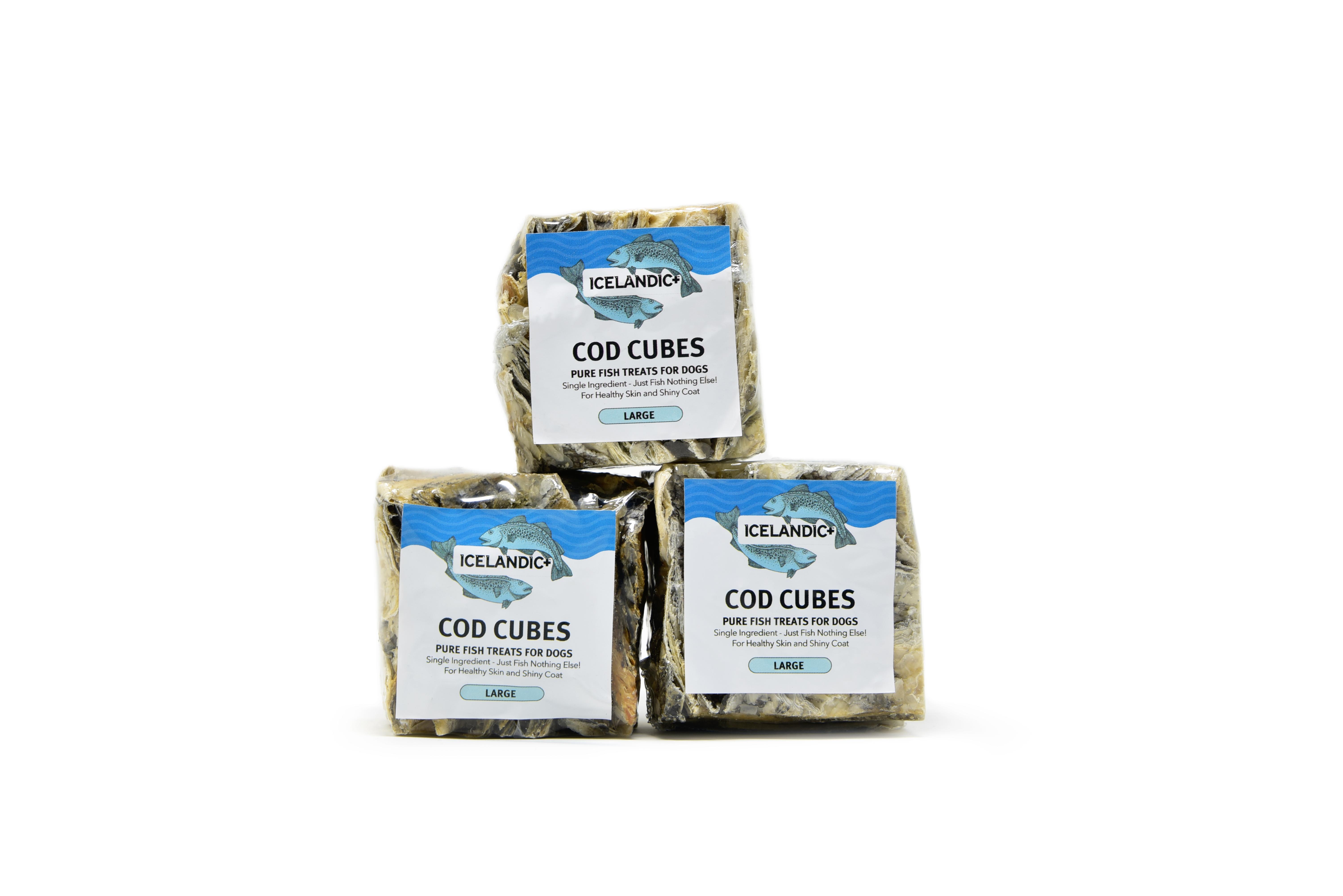 Icelandic+ Cod Cubes Dog Treat, Large