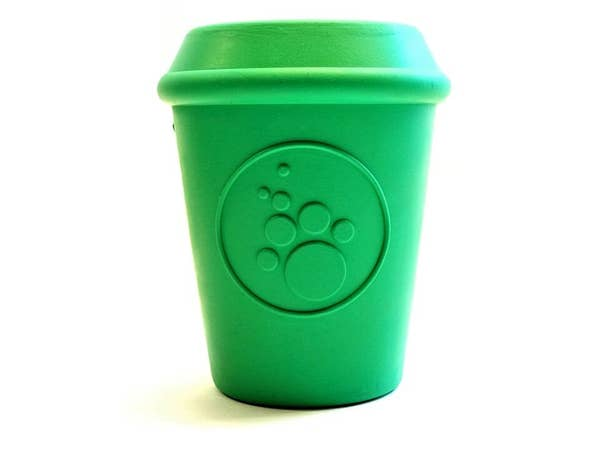 Sodapup Coffee Cup Treat Dispensing Dog Toy, Green, Large
