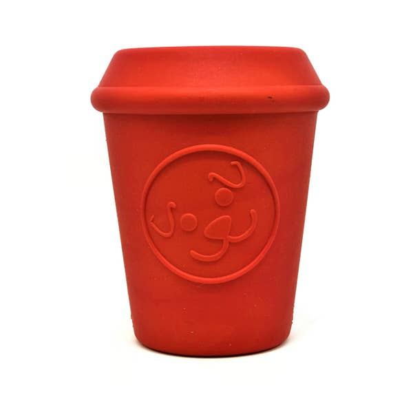 Sodapup Coffee Cup Treating Dispensing Dog Toy, Red, Medium