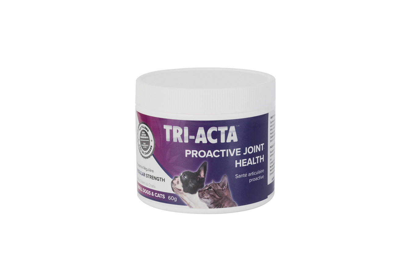 Tri-Acta Regular Strength Joint Health Supplement for Small Dogs & Cats, 60-gram