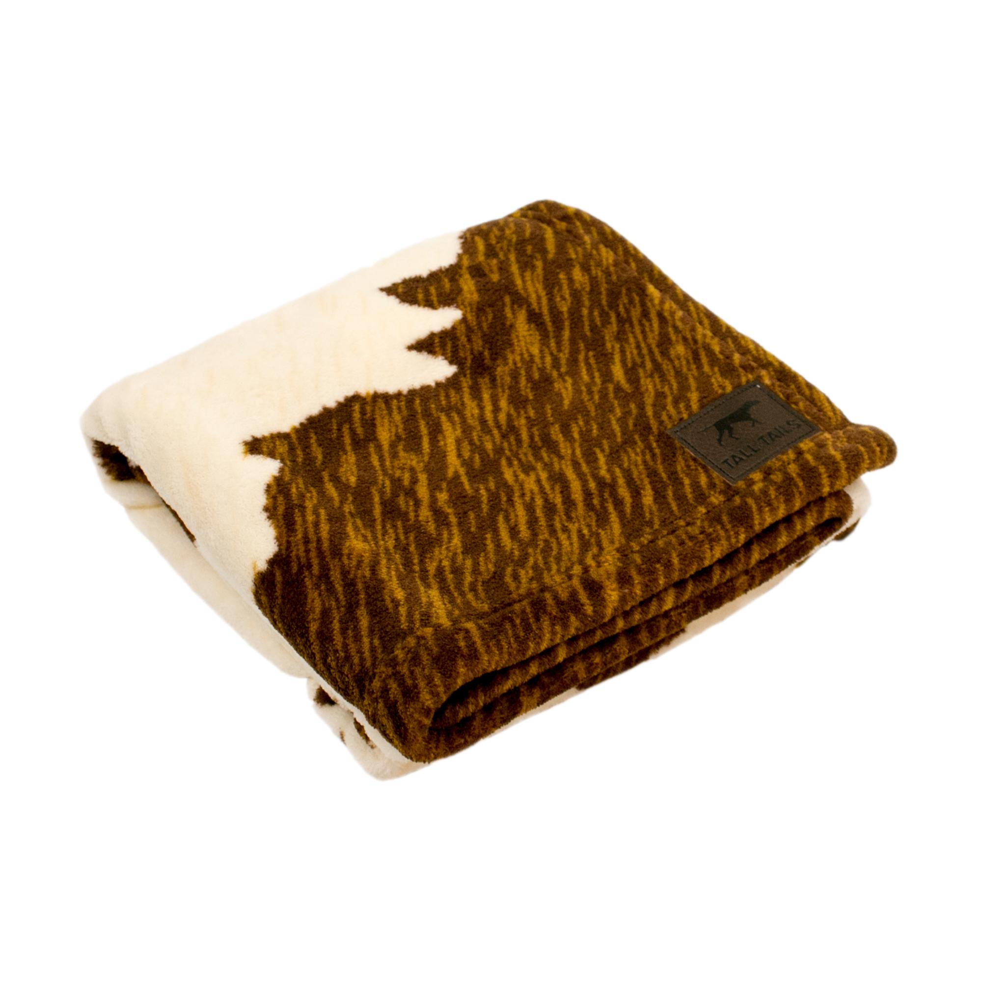Tall Tails Cowhide Dog Blanket, 30x40 (Size: 30x40) Image
