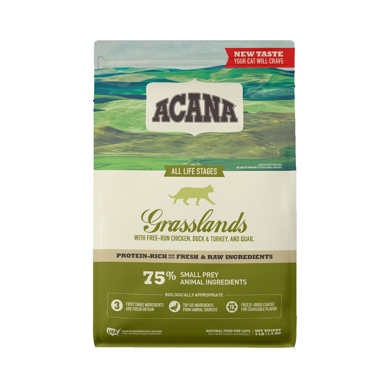 ACANA Grasslands Dry Cat Food, 4-lb bag