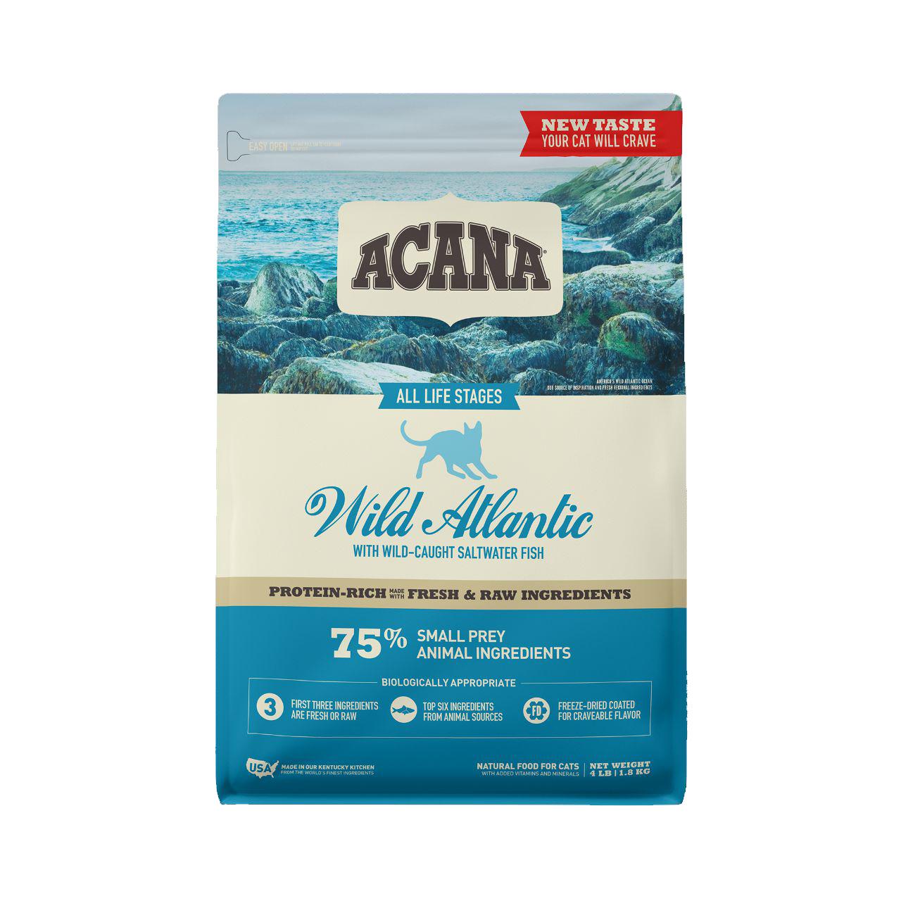 ACANA Wild Atlantic Dry Cat Food, 4-lb bag