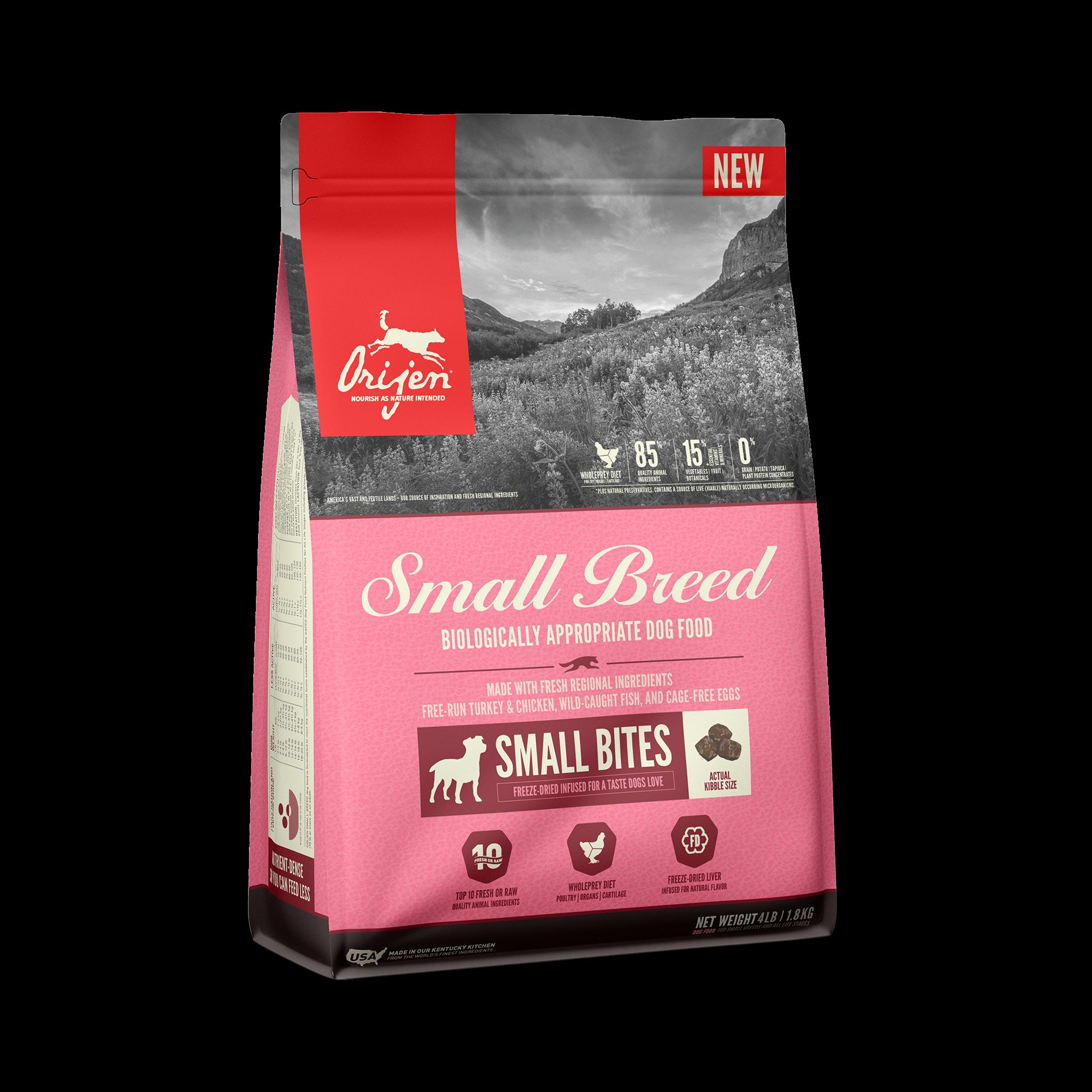 Orijen Small Breed Dry Dog Food, 4-lb