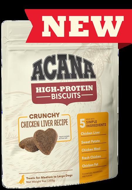 Acana Dog Biscuit Crunchy Chicken Liver, Small, 9-oz