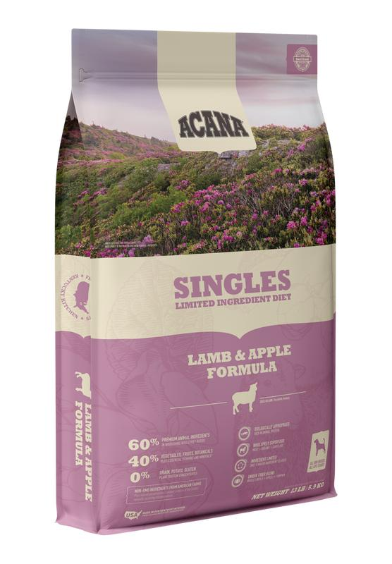 ACANA Singles Limited Ingredient Diet Lamb & Apple Recipe Dry Dog Food, 10.8-kg