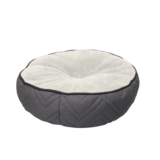 Dogit DreamWell Dog Mattress Bed, Round, Gray & White