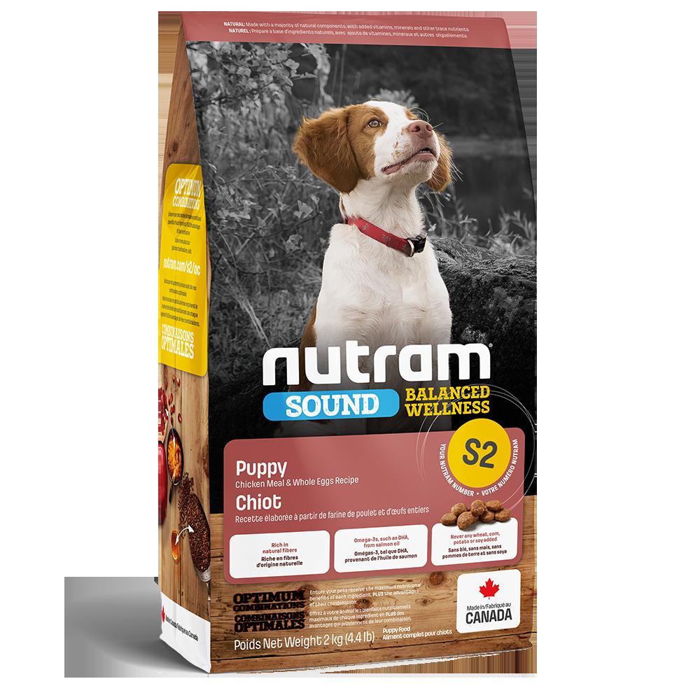 Nutram Sound S2 Balanced Wellness Puppy Food, 2-kg