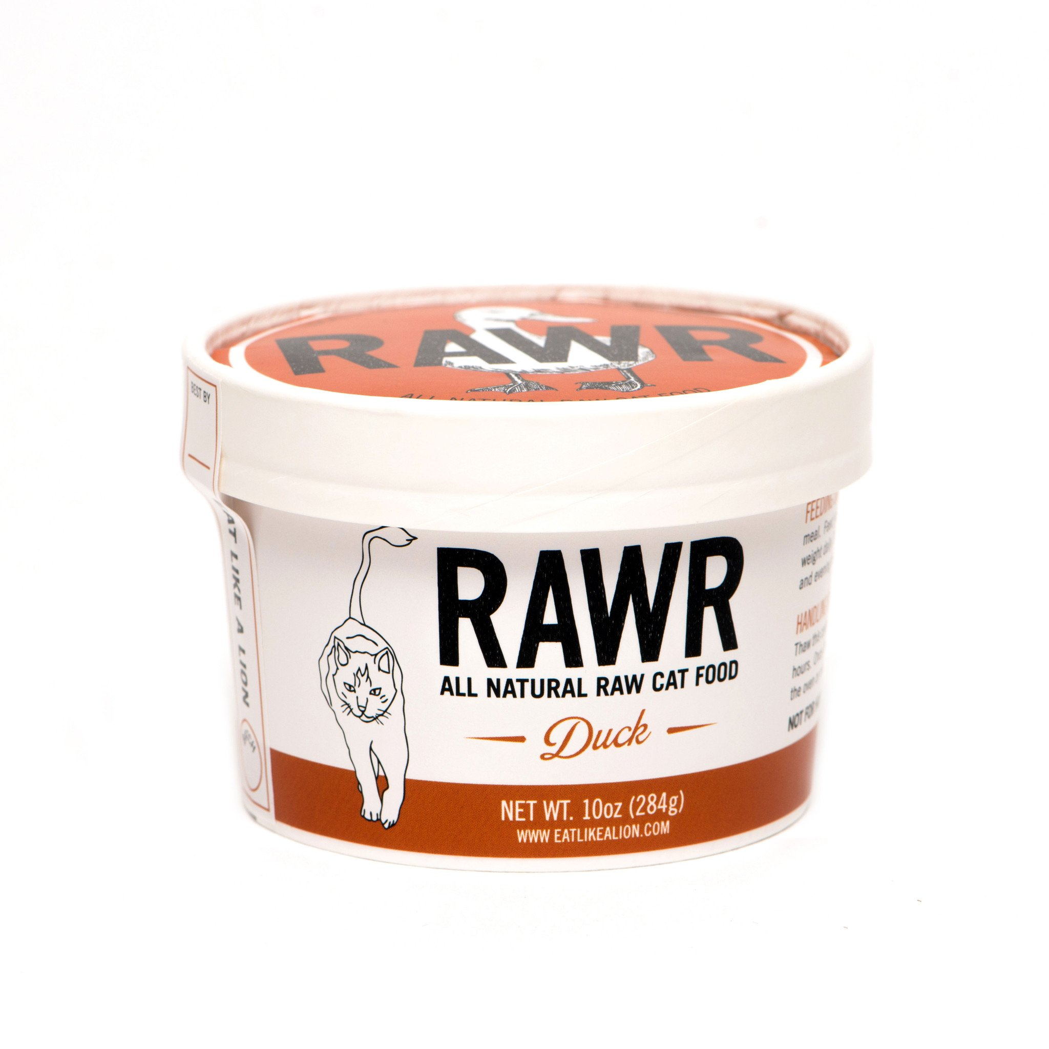 RAWR All Natural Duck Raw Frozen Cat Food, 16-oz