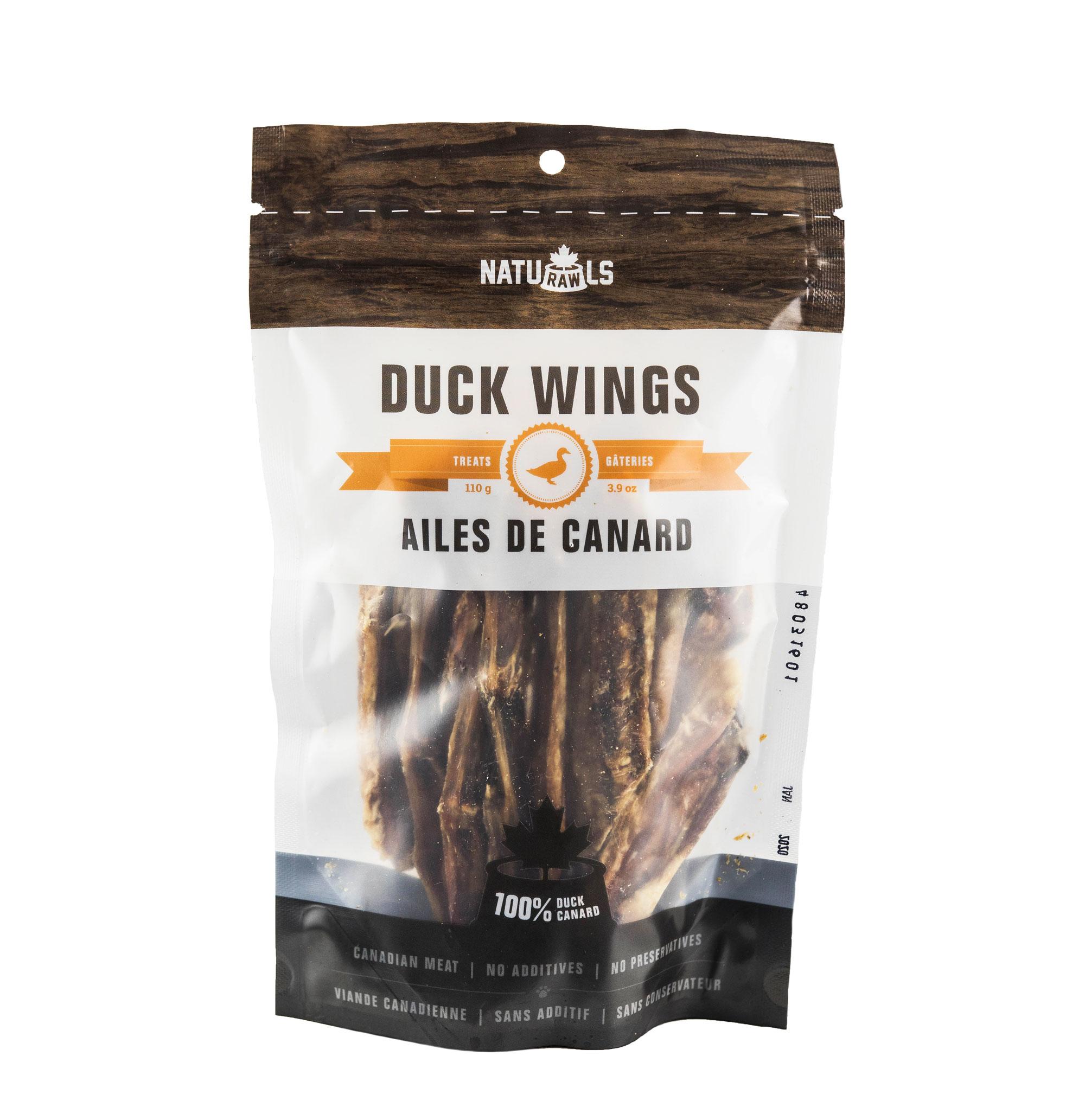 Naturawls Duck Wings Dehydrated Dog Treats, 110-gram